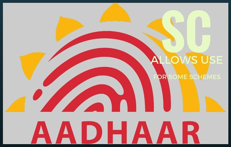 Voluntary use of Aadhaar card in some schemes is allowed: SC