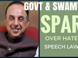 Dr. Swamy and Modi Govt. spar over Hate speech Law