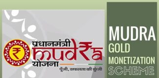 MUDRA initiative Sine Qua Non-for Gold Monetization