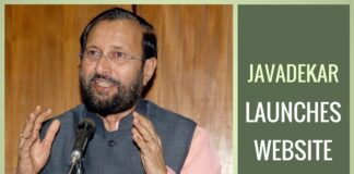 Indian Environment Minister (Javadekar) launches website on Climate Change