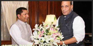 Meghalaya CM seeks Rajnath's intervention on empowering tribals