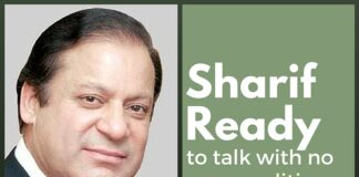 Pak ready to talk with India without pre-conditions: Sharif