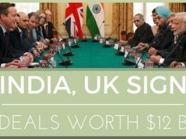 UK, India sign commercial deals worth $14 billion