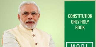 Modi says constitution 'only holy book' for his government