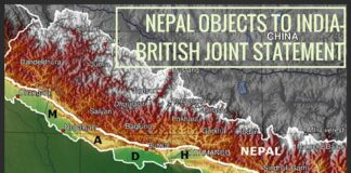 Nepal objects to India-Britain joint statement