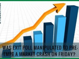 Was exit poll manipulated to pre-empt a market crash on Friday?