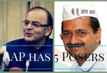 AAP's five fresh posers to Jaitley