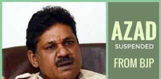 BJP suspends 'whistleblower' Azad