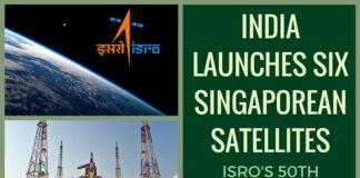 India launches six Singaporean satellites; 50th launch from Sriharikota