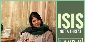 IS no threat to Kashmir: Mehbooba