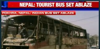Explosive situation in Nepal, Indian tourist bus burnt