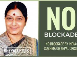 No blockade by India: Sushma on Nepal crisis