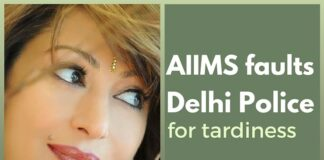 AIIMS faults Delhi Police's handling of Sunanda Pushkar's death
