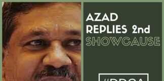 Azad replies to the 2nd show cause: Refutes charges of anti-party activities