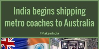 The coaches, each 75 feet long and weighing 46 tonnes, were built in Baroda, and shipped from Mumbai port as it boasts supremacy in handling oversized precious cargo.