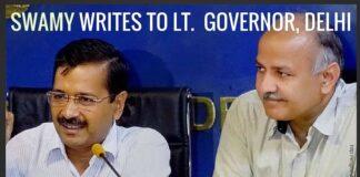 Swamy writes to Delhi Lt. Governor charging Delhi CM, Deputy with corruption