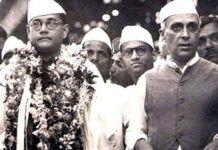 Subash Chandra Bose and Jawaharlal Nehru