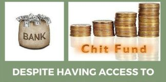 Bank accounts v/s chit funds