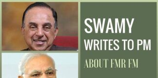 Subramanian Swamy writes to the Prime Minister on P Chidambaram's alleged machinations