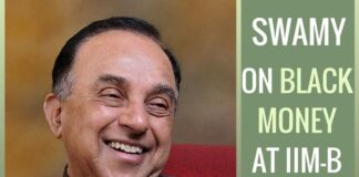 Black Money - Dr. Swamy supplies proof of how catching big fish deters the others from indulging in corruption