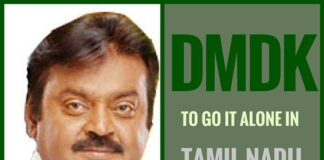 In Tamil Nadu DMDK to contest alone