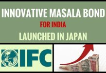 Innovative Masala Bond for India was launched by IFC in Japan