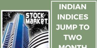 Indian Stocks bounces up to two months high