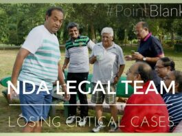 Why is the NDA Legal team losing critical cases?