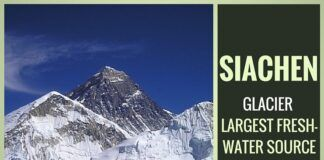 Siachen - largest fresh-water resouce