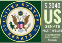 Senate passes Measure S 2040 that allows Sept. 11 victims to sue other states (countries) for their role