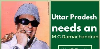UP is in desperate need for an MGR with all his mystique/ transcended caste and sense of fairness.