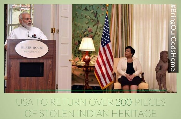 USA to return over 200 pieces of stolen Indian heritage