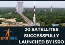 ISRO launched 20 Satellites