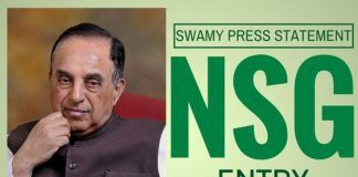 Swamy calls on China to support India's entry into NSG