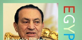 A significant amount of money was siphoned out from Egypt, under Mubarak.