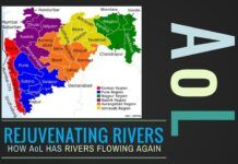 Highlights the work being done by Art of Living in rejuvenating rivers, especially in drought prone areas
