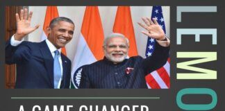 LEMOA enables India to move closer to the US to counter Pak-China