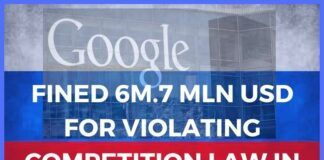 Google fined in Russia