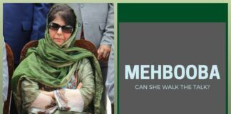 Can the first woman Chief Minister of J & K, Mehbooba Mufti walk the talk?