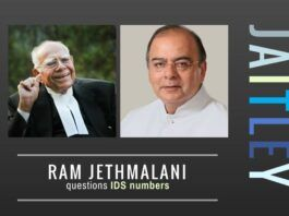 Veteran lawyer Ram Jethmalani takes aim at Jaitley on black money