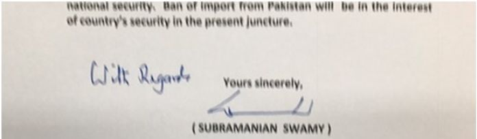 Swamy letter to PM urging ban of Cement imports from Pak Page 3