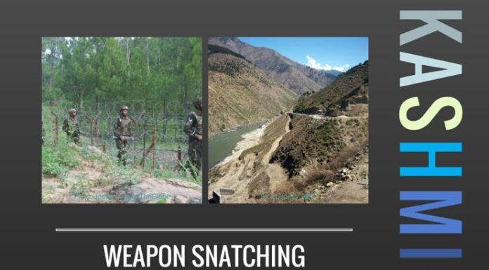 Several instances of weapon snatching have been reported in the valley, adding to the work of the security forces.