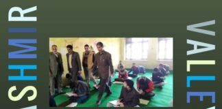 Defying separatists students of Kashmir valley sat down to take their exams