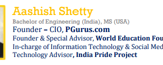 Profile of Aashish Shetty