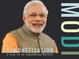 Is Demonetization a way to re-capitalize India's Banks who are having a currency crisis?