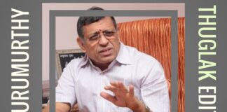 Gurumurthy, an Auditor and Political Commentator is in a new avatar as Editor of Thuglak