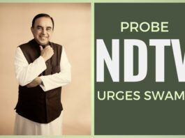 The latest revelations from Income Tax Office on NDTV warrants an investigation by the ED, writes Swamy to the PM