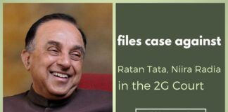 Quoting the SFIO findings, Swamy has filed a petition against Ratan Tata & Niira Radia in the 2G Court