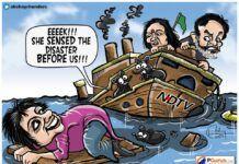 Rats abandoning a sinking ship?
