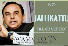 No Jallikattu: Obey SC or face President's rule: Swamy to TN